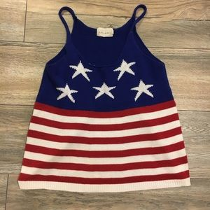 American flag patterned tank